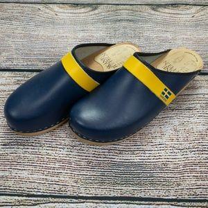 Skane Toffeln Sweden Clogs Size 39 8 - 8.5 Blue
